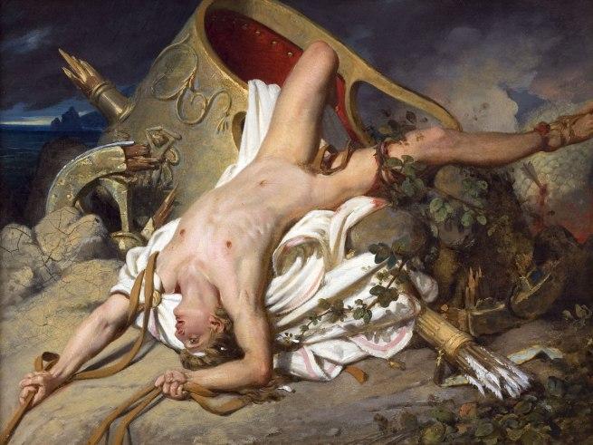 Joseph-Désiré Court(French, 1797-1865) 'Death of Hippolytus' 1825