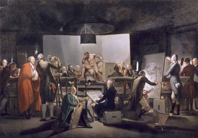 Martin Ferdinand Quadal. 'Nude Life Class at the Vienna Art Academy in the St.-Anna-Gebäude' 1787