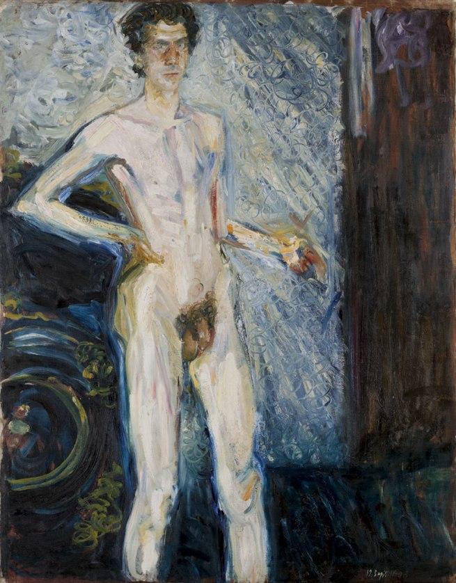 Richard Gerstl. 'Nude Self-portrait with Palette' 1908