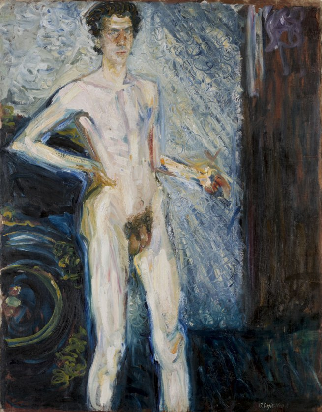 Richard Gerstl. 'Nude Self-portrait with Palette' 1908