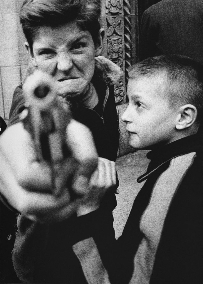 William Klein. 'Gun 1, New York' 1955