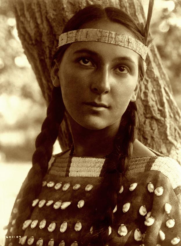 Edward S. Curtis. 'Lucille, Dakota Sioux' 1907
