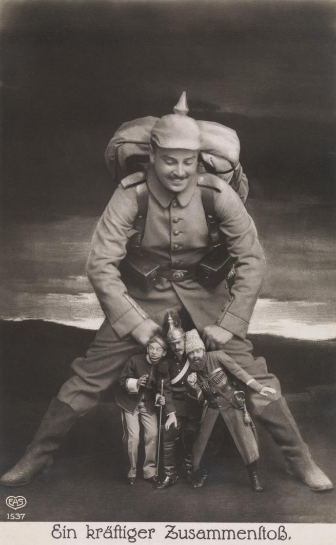 Unknown Photographer, German. 'Ein kräftiger Zusammenstoss (A Powerfull Collision)' 1914