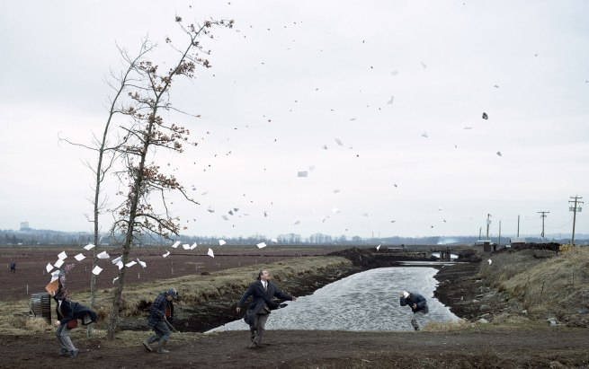 Jeff Wall Canadian 1946- 'A sudden gust of wind (after Hokusai)' 1993