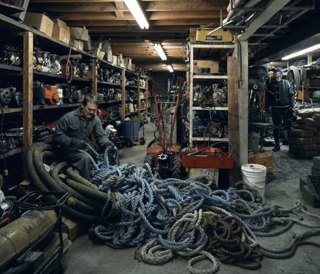 Jeff Wall Canadian 1946- 'Untangling' 1994, printed 2006