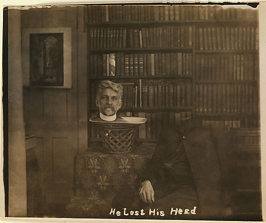 Unknown, American (American). 'He Lost His Head' Nd