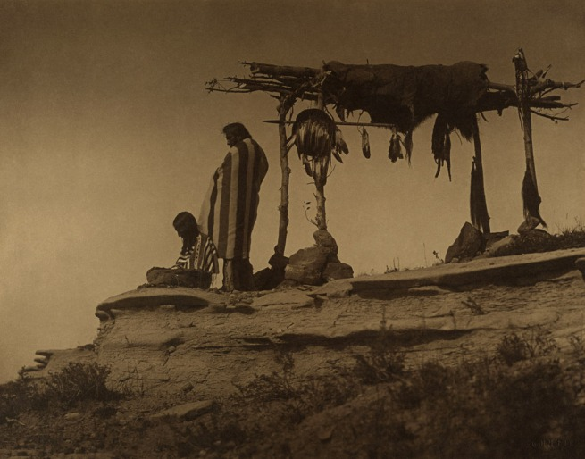 Roland Reed. 'Tribute to Dead Piegan Blackfoot' Montana, 1912