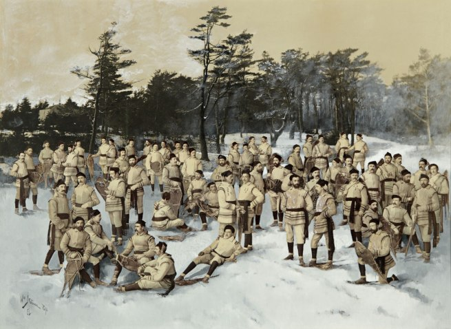 Wm. Notman & Son, Montreal, Eugène L'Africain, William Notman. 'Red Cap Snow Shoe Club, Halifax, Nova Scotia' c. 1888