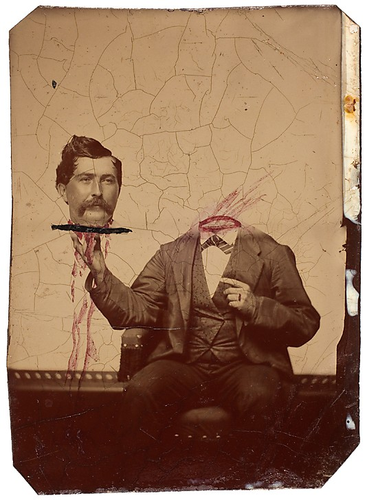 Unknown, American. '[Decapitated Man with Head on a Platter]' c. 1865