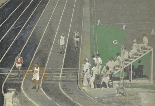 "Alexander Rodchenko.' Race. ""Dynamo"" Stadium' 1935"