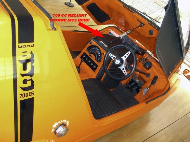 Bond Bug interior