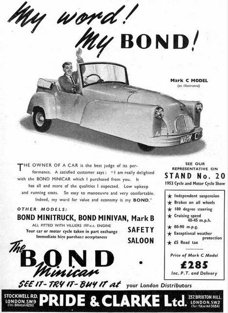 Bond Minicar poster 1953