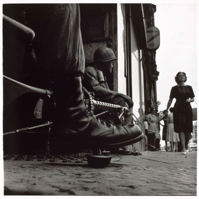 Don McCullin. 'American soldiers, Checkpoint Charlie, West Berlin' August 1961