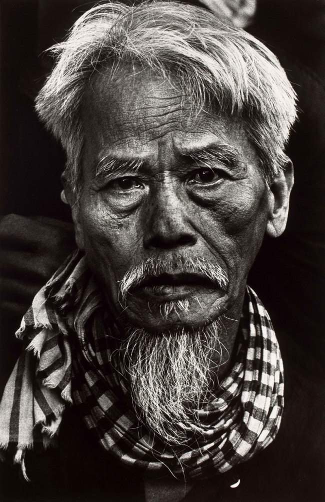 Don McCullin. 'Old Vietnamese man, Tet Offensive, Hué, South Vietnam' February 1968