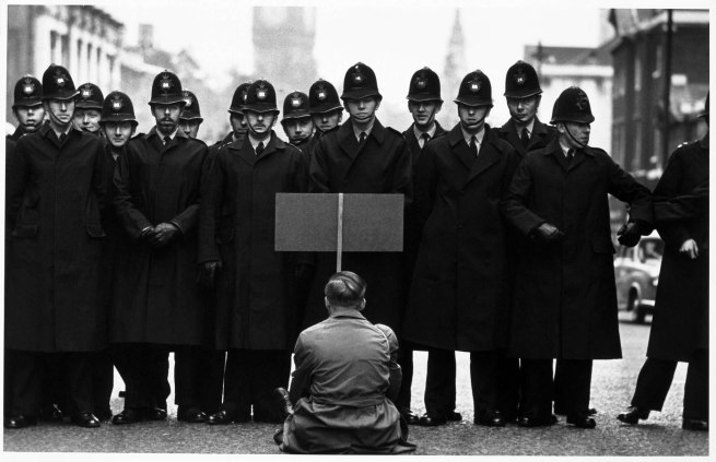 Don McCullin. 'Protester, Cuban missile crisis, Whitehall, London' 1962