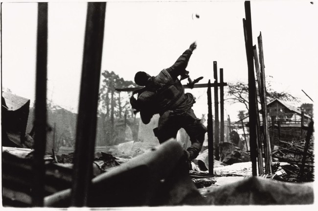 Don McCullin. 'US marine throwing grenade, Tet Offensive, Hué, South Vietnam' February 1968