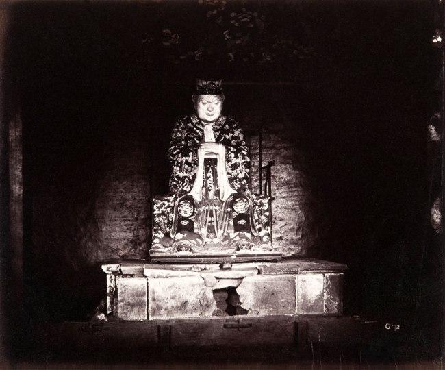 Felice Beato. 'Confucius, Canton, April 1860 April' 1860