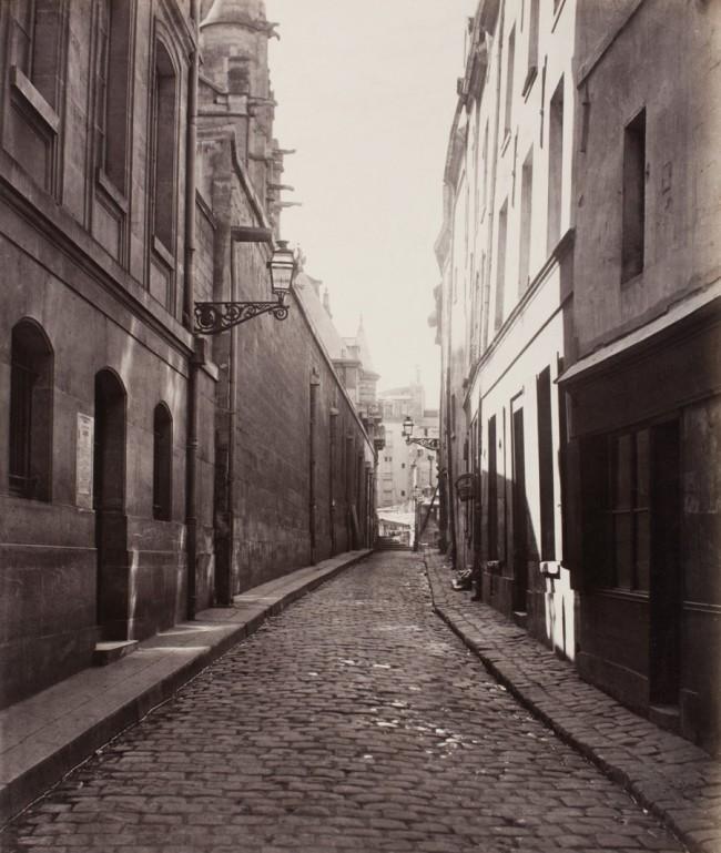 Charles Marville. 'Rue des Prêtres Saint-Étienne, de la rue Descartes' c. 1865
