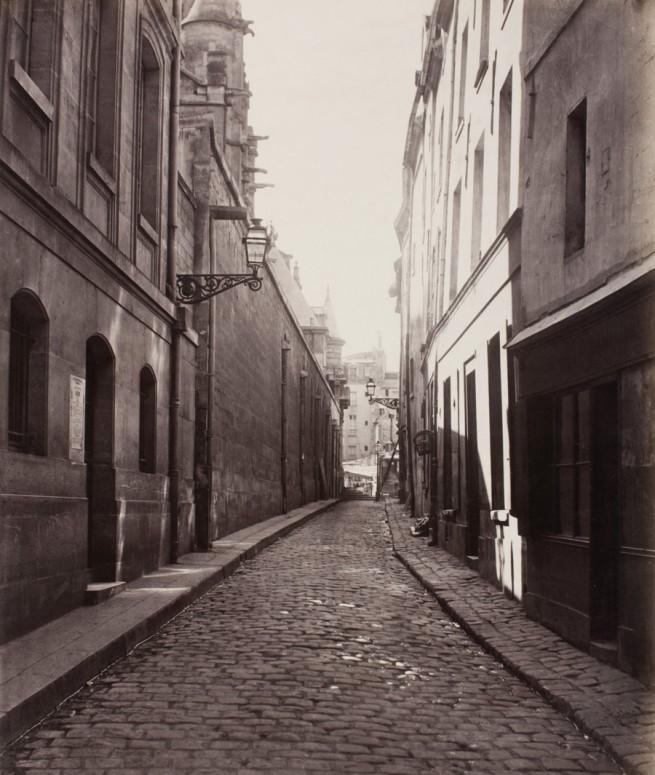 Charles Marville, French, 1816 - 1879. 'Rue des Prêtres Saint-Étienne, de la rue Descartes' c. 1865