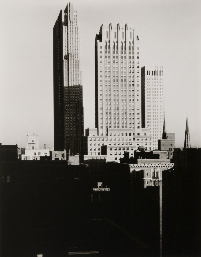 Alfred Stieglitz, American, 1864 - 1946. 'New York from the Shelton' 1935