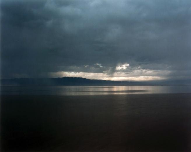 Richard Misrach, American, born 1949. 'Pink Lightning, Salton Sea' 1985