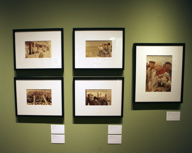 Installation photographs of the exhibition 'Primrose - Russian Colour Photography' at Foam, Amsterdam