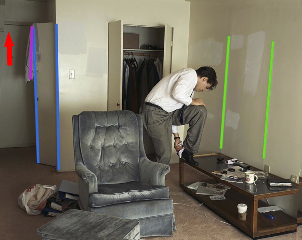 Jeff Wall 'Polishing' skewing