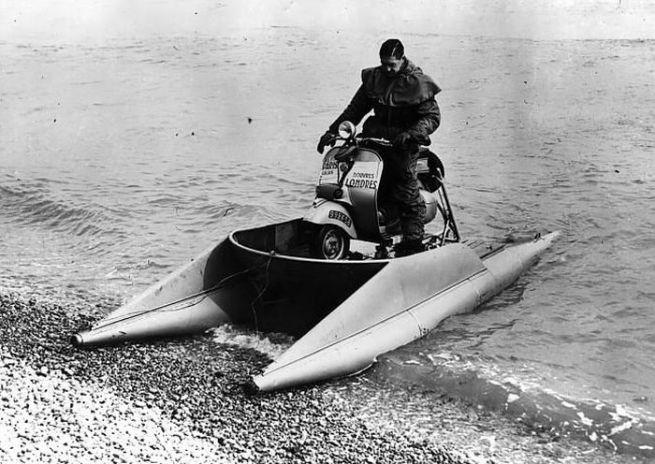 Georges Monneret. 'Amphibious Vespa' 1952