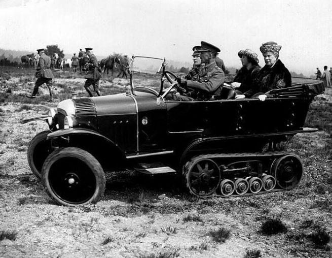 English half-track car c. 1910s-1920s?
