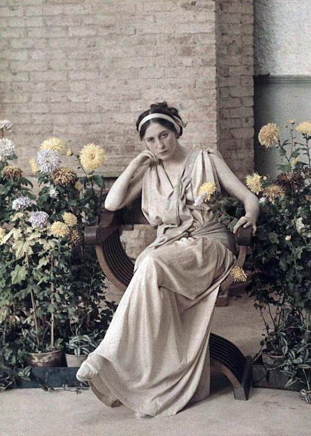 Piotr Vedenisov. 'Uknown woman, the Crimea, Yalta' 1914