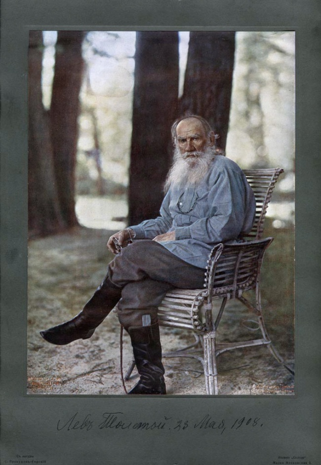 Sergey Prokudin-Gorsky. 'Portrait of Lev Tolstoy' 23rd of May 1908