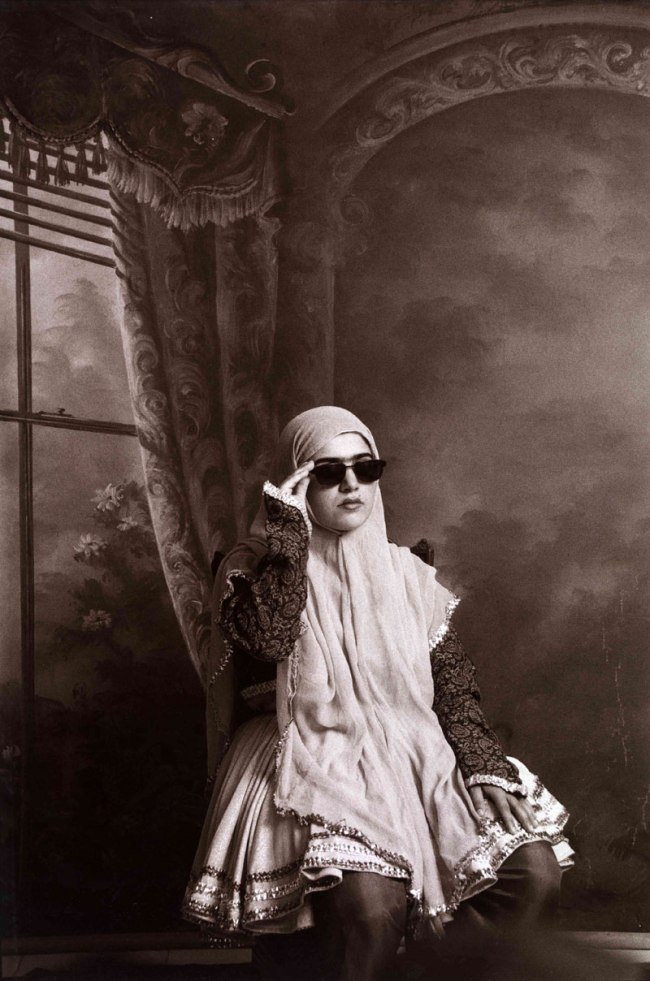 Shadi Ghadirian. From the series 'Qajar' 1998