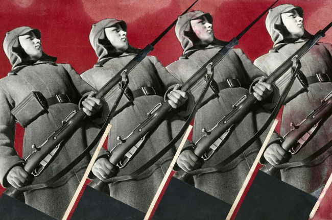 Varvara Stepanova. 'Red Army Men' 1930