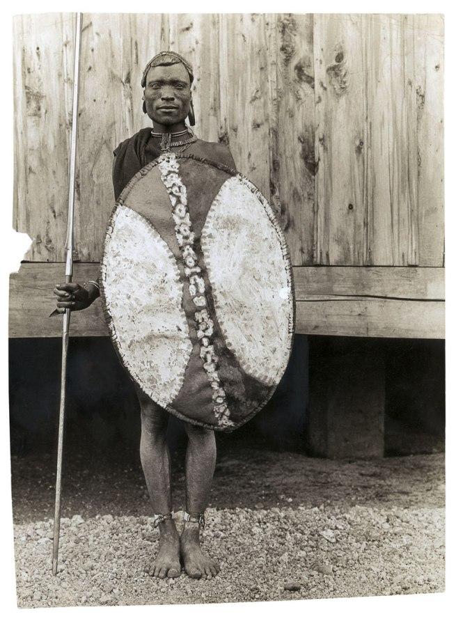 Unidentified photographer. 'Mouv, Nthaka warrior' East Africa, early twentieth century