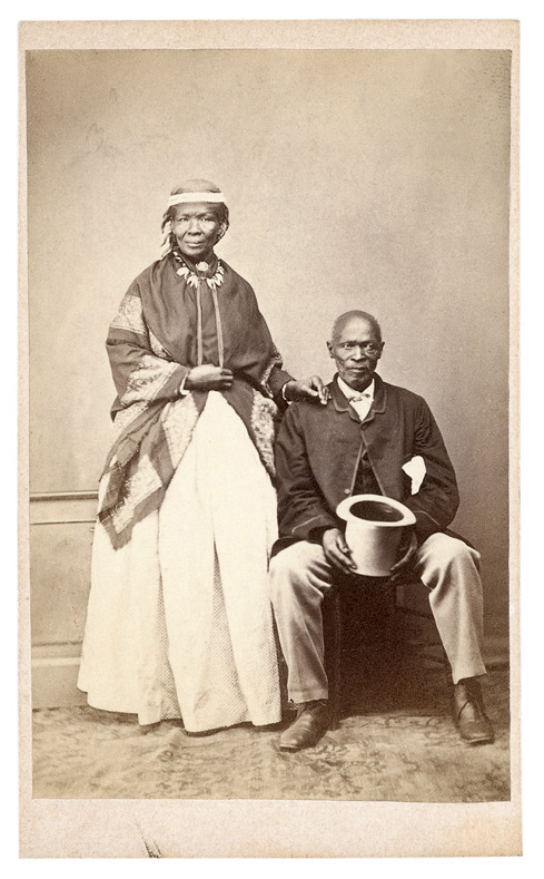 William Moore (attr.), 'Macomo and his chief wife [Portrait of Maqoma and his wife Katyi]' South Africa, c. 1869