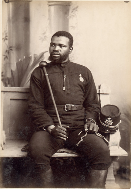 Unidentified photographe. 'Native Police' South Africa, Late nineteenth century