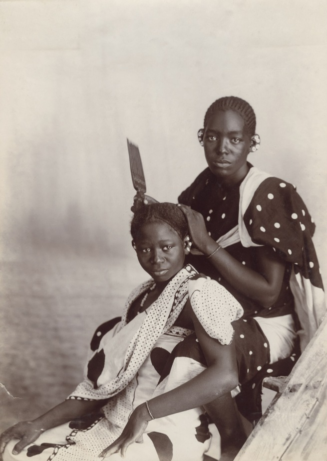 A.C. Gomes & Son. 'Views in Zanzibar – Natives Hairdressing' Tanzania Late nineteenth century