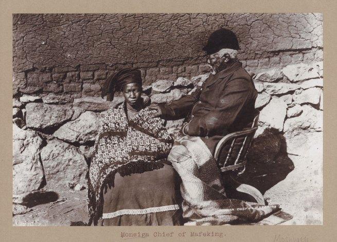 Unidentified photographer. 'Monsiga Chief of Mafeking' South Africa, late nineteenth century