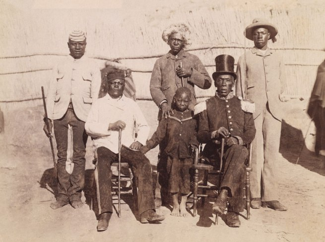 A. James Gribble. 'Masupa. Kaffir Chief & sons. Basutoland' South Africa, late nineteenth century