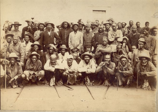 W. Rausch. 'Indaba of Induna Chiefs, Buluwayo' Zimbabwe, 1890s