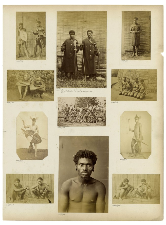 Unidentified photographers. 'Albumen prints mounted to album page' South Africa, late nineteen century