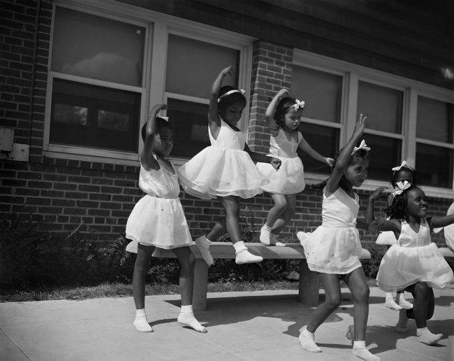 Gordon Parks. 'A dance group, Frederick Douglass housing project, Anacostia, Washington, DC, 1942' 1942