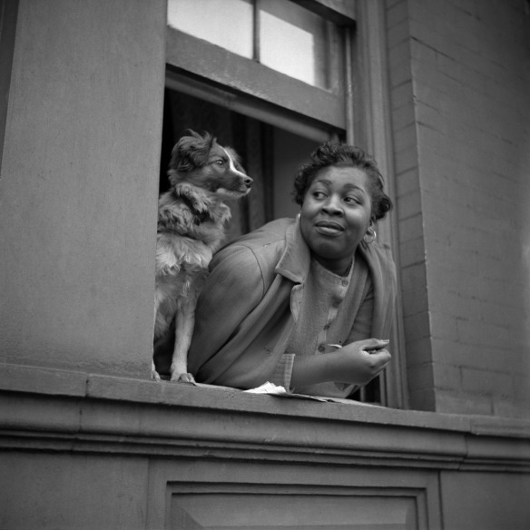 Gordon Parks. 'A woman and her dog in Harlem, NY, 1943' 1943