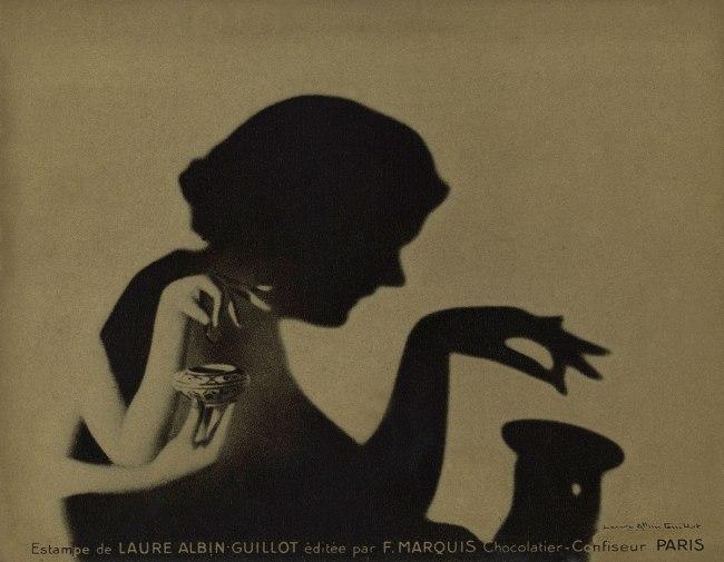 Laure Albin Guillot. 'Estampe pour F. Marquis chocolatier-confiseur, Paris [Print for F. Marquis chocolate maker, Paris]' sans date (without date)