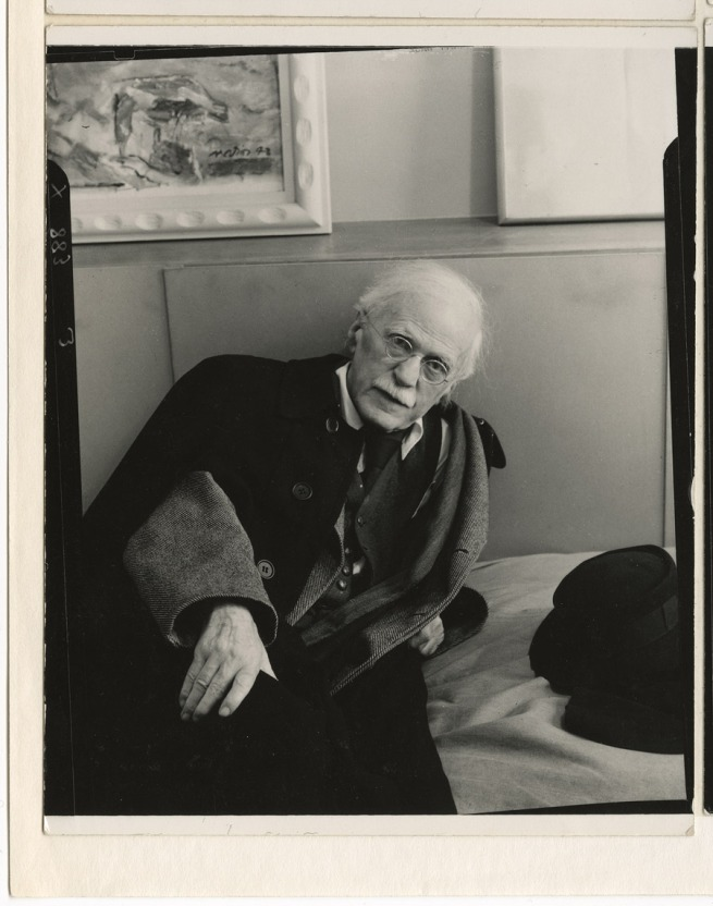 Arnold Newman. 'Alfred Stieglitz in his An American Place Gallery, 1944' 1944
