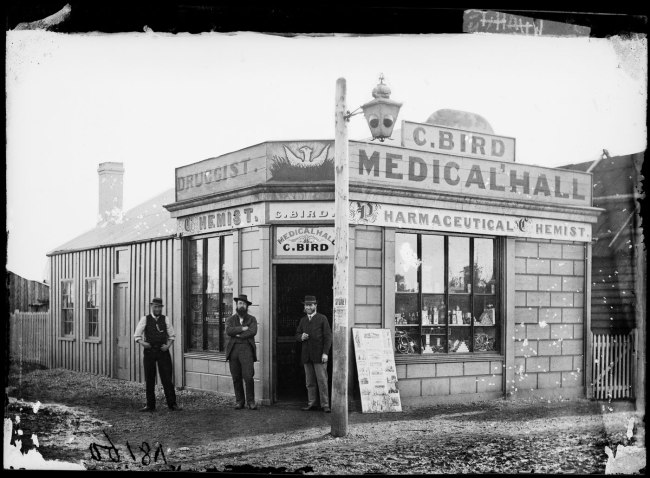 American & Australasian Photographic Company. 'Charles Bird, Medical Hall, Gulgong' 1872