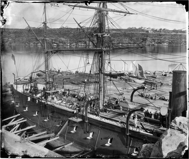 American & Australasian Photographic Company. '[French warship 'Atalante', Fitzroy Dock, Sydney, 1873]' Aug 1873