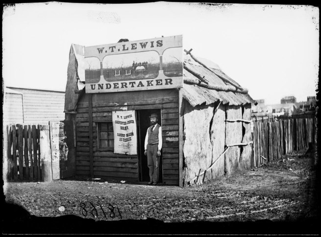 American & Australasian Photographic. 'Company William Lewis, undertaker' 1872