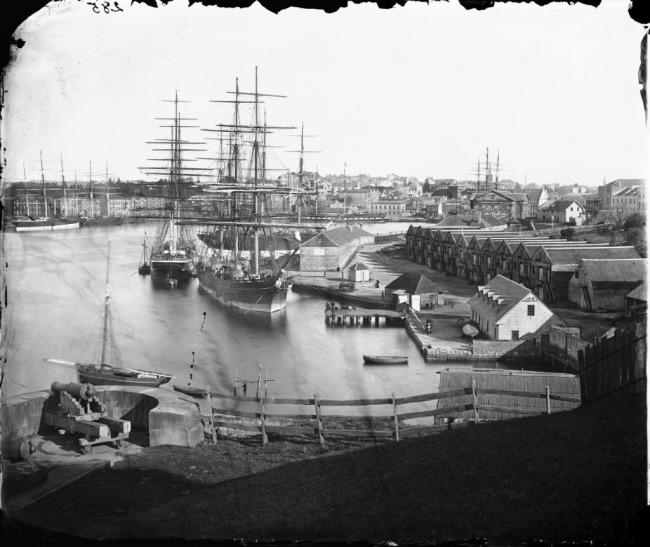 Beaufoy Merlin. 'Circular Quay from Dawes Battery' 1873