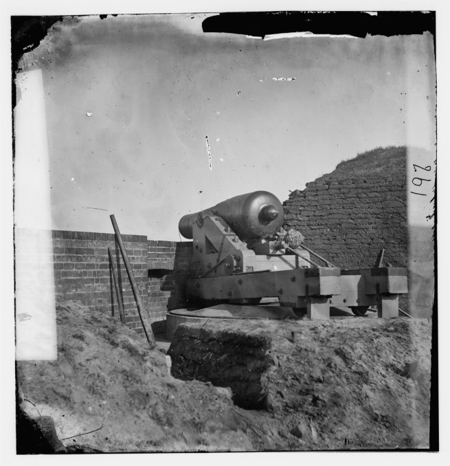 "Timothy H. O'Sullivan (1840-1882). '[Fort Pulaski, Ga. The ""Beauregard"" gun]' April 1862"